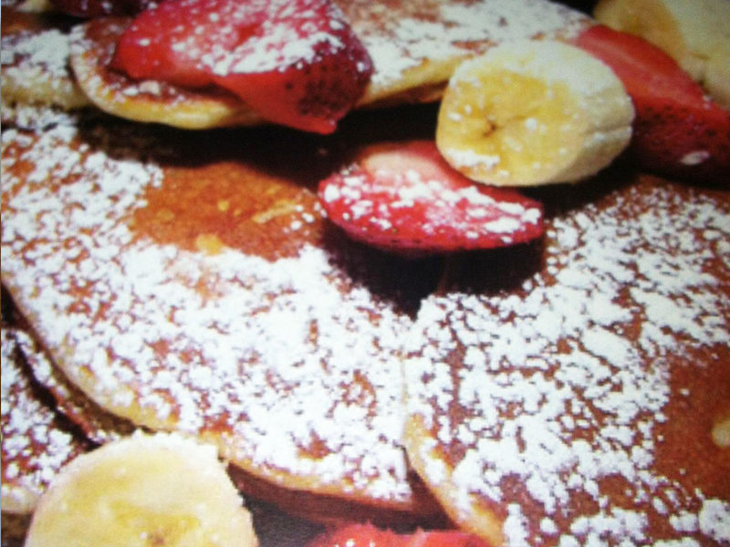 Pancakes with Fruit...$10.50